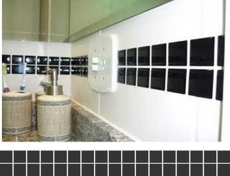 24 unidades de adesivo pastilhas- parede - faixas - azulejo