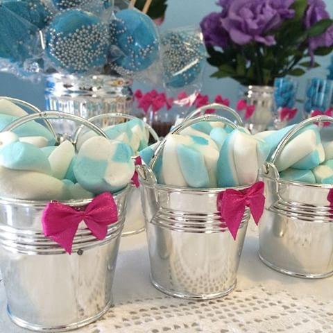 24 unidades mini balde de plástico para festa de lembranças