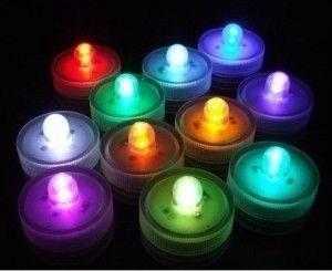 24 velas led sumergibles multicolor luminosos cotillon deco