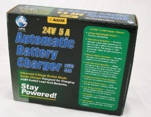 24 volt / amp 5 - etapa tres - sla cargador de baterías y m