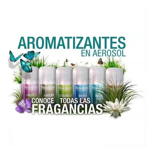 24 x aerosol fragancia repuesto newscent aromatizador