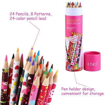 24 X Lápices De Colores Para Adulto Niños Colorear Libros ...