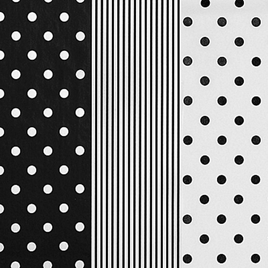 240 hojas de papel china surtido de 3 dise os negro blanco - Papel de pared blanco y negro ...