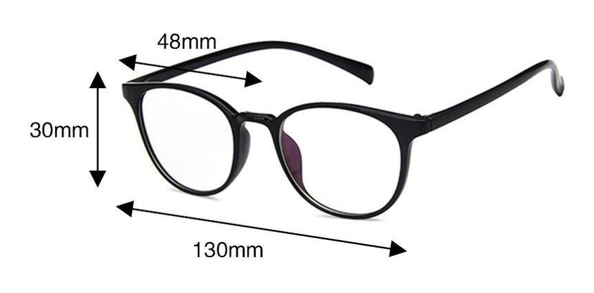 comprar online 526be 3c714 2413 Gafas De Vista Redondas De Marco Pequeño Espejo Plano Ó