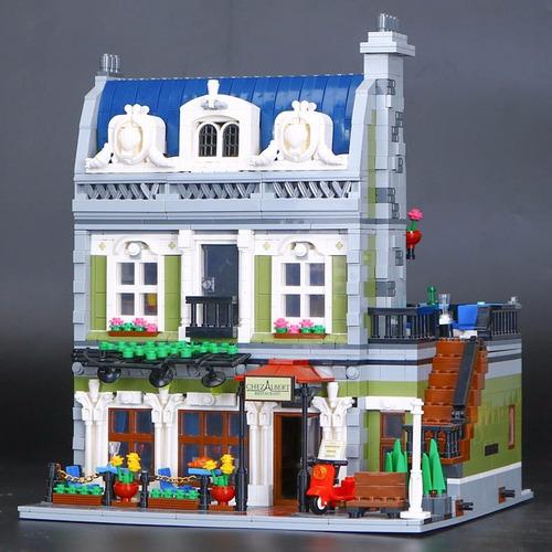 2418 unids  restaurante parisino compatible lego 10243
