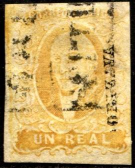 2420 clásico scott #2 orisava amarillo 1 real usado 1856