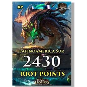 2430 Rp Riot Points League Of Legends/lol Latinoamerica Sur