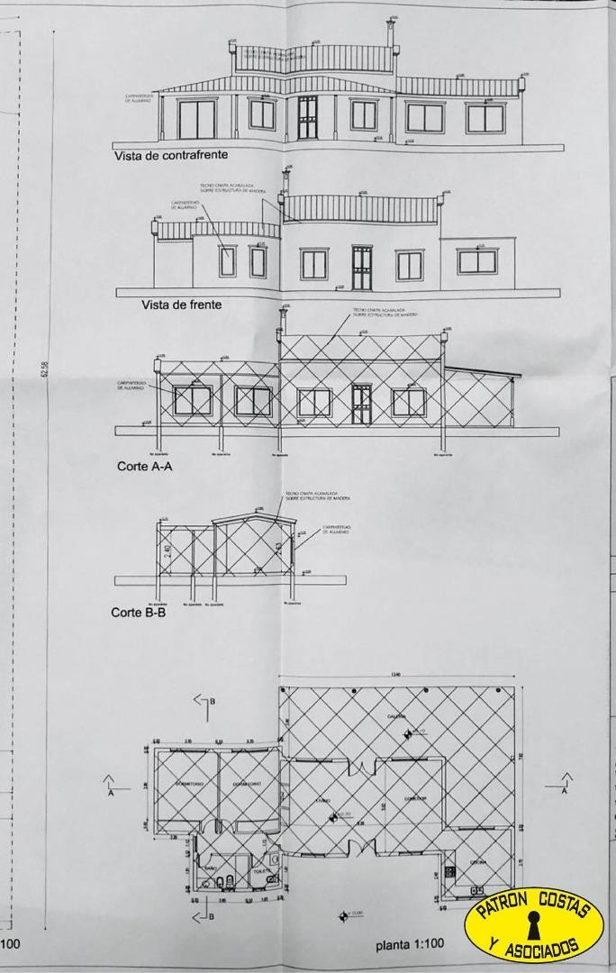 2436ga-casa 2 dorm. s/2000 m2 pileta sta. catalina