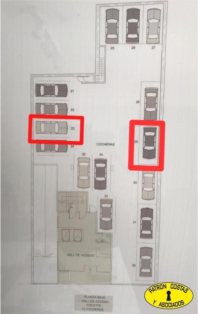 2475mj-venta cochera fija descubierta en boedo
