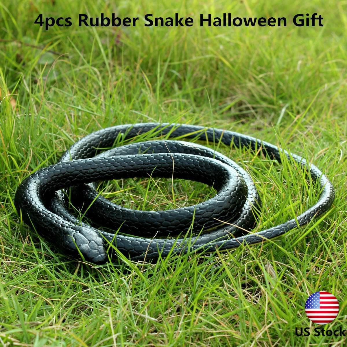 130Cm Real Rubber Toy Fake Snake Safari Garden Prop Joke Prank Halloween Gifts