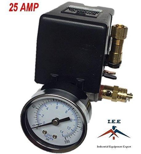4 Puertos 25 Amp 95-125 Psi Sunny L4 Heavy Duty De Presión De Aire interruptor de control