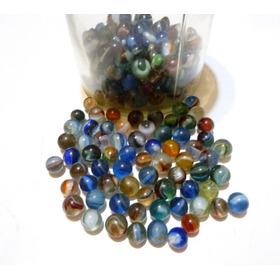 25 Bolitas Canicas Antiguas Fabricadas Con Vidrio De Sifones