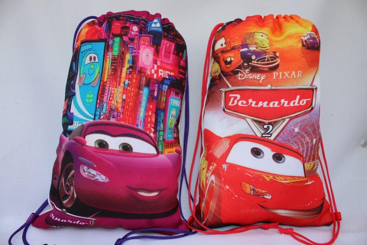 554ba8e7e 25 Bolsa /mochila Saco Personalizada Carros Mod.2 30cmx20cm - R$ 150 ...