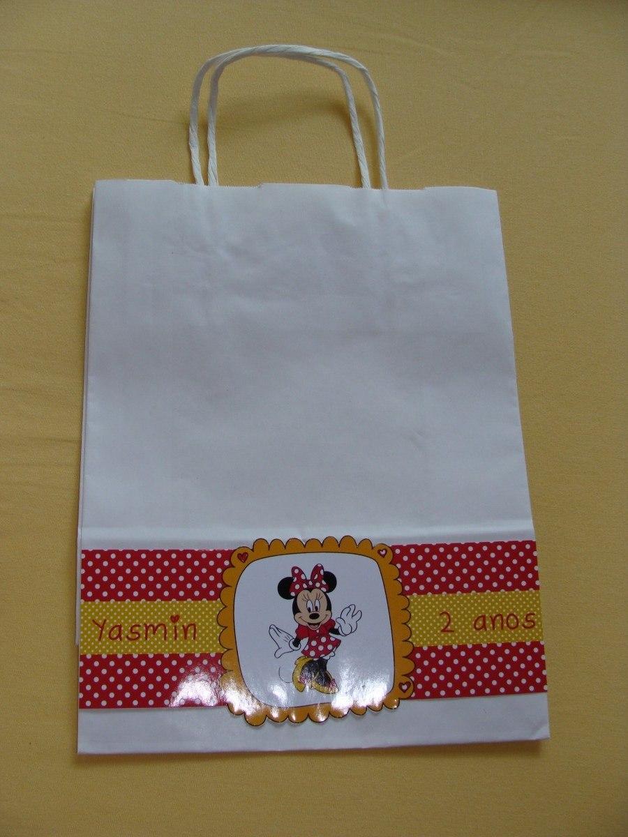 Bolsa De Festa Infantil : Bolsa sacola saco kraft personalizado tema festa