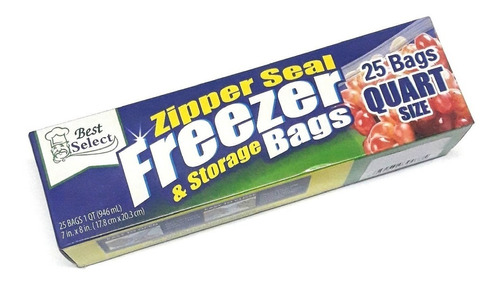 25 bolsas cierre hermético zip alimentos,freezer de 18*20cm