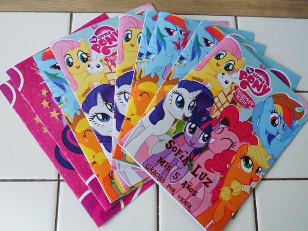 25 Bolsitas Cumple Y 25 Libros Colorear My Little Pony