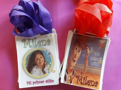 25 bolsitas de friselina personalizada cumpleaños golosinera