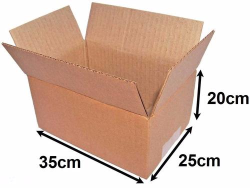 25 caixa papelão embalagem sedex pac correios 20 x 25 x 35cm