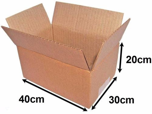 25 caixa papelão embalagem sedex pac correios 20 x 30 x 40cm