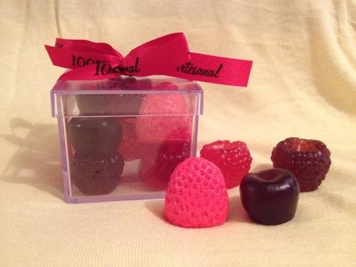 25 caixas de sabonetes frutas vermelhas + frete gratis