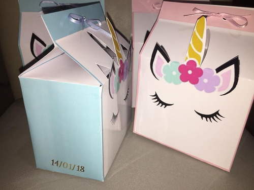 $25 caja golosinera 3d de unicornio