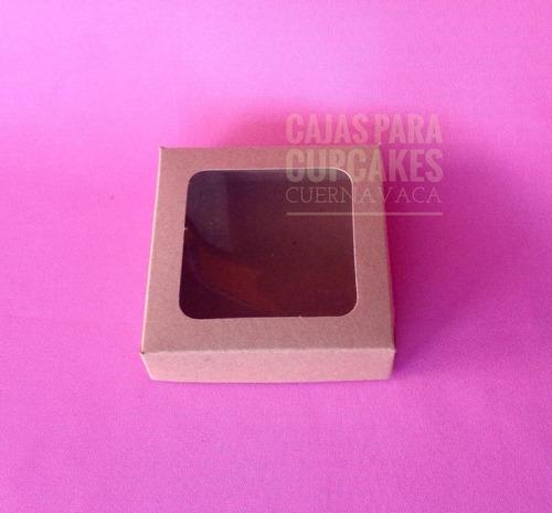 25 cajas p/ galleta individual kraft 11x11x3cm (royal icing)