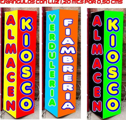 25 carteles triangulitos c/ o s/ luz ideal empresa carteleri