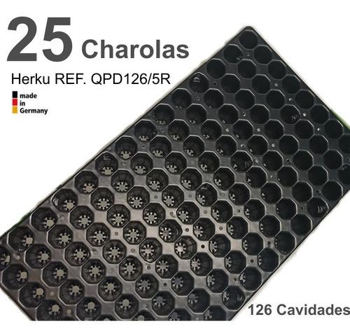 25 charolas germinacion 126 cavidades 9x14 larga vida