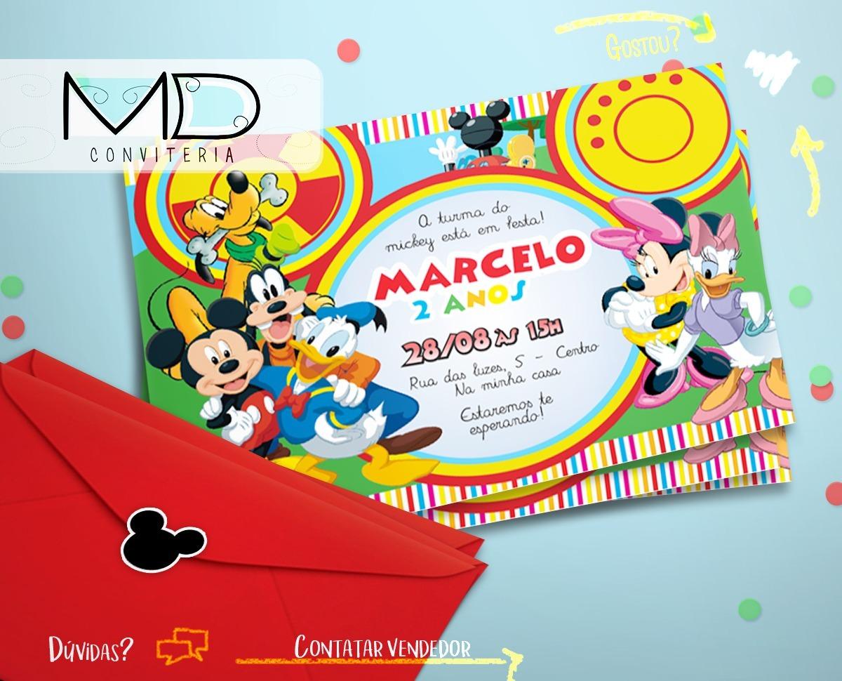 25 Convite Turma Do Mickey Festa De Aniversário