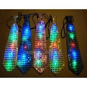 3485963d5952 25 Corbata Luminosa Fiesta Noche Led Batucada