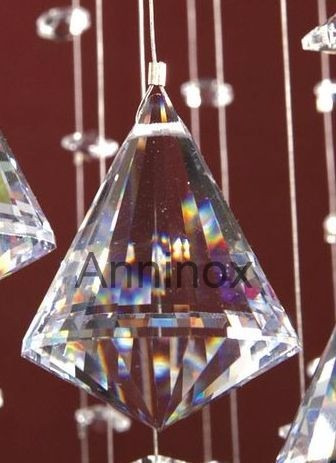 25 cristais pião para lustres de 4,0 cm - feng shui