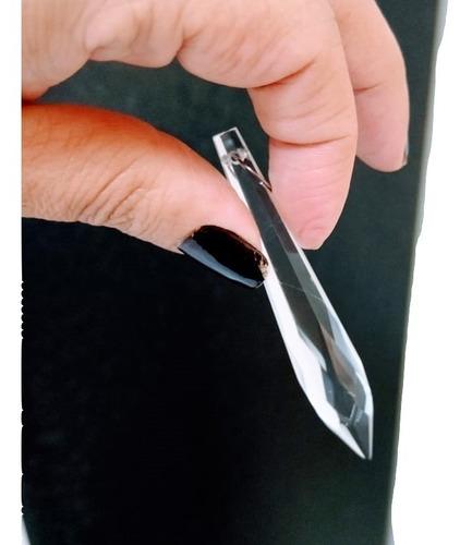 25 cristais pirulito de 7,6cm para lustres com argola em aço