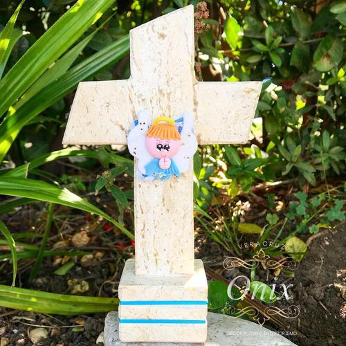25 cruces de mármol en onix para recuerdos.