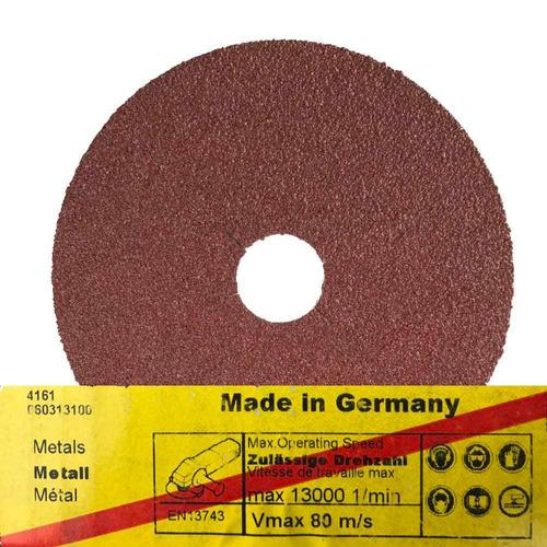 25 discos abrasivos de lixa fibra gr40 klingspor fs764