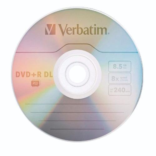 25 discos verbatim logo dvd+ r dl - unidad a $3400