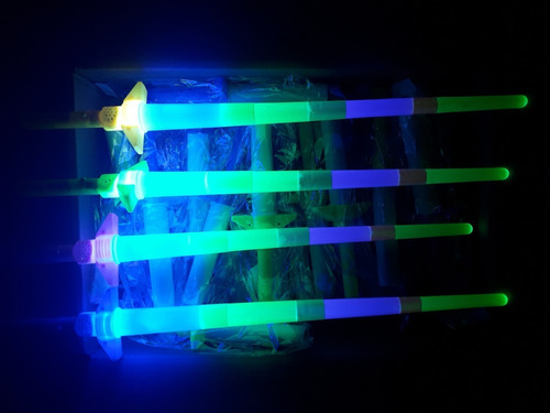 25 espada luz led barato juguetes mayoreo niño cumpleaños