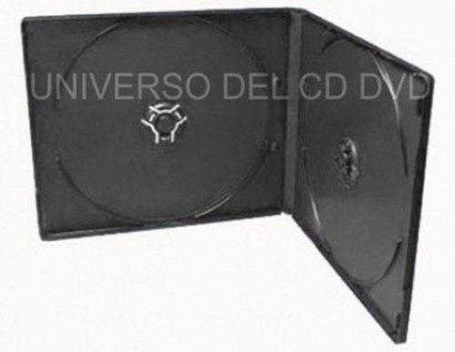 25 estuches caja slim doble de 5mm para cd-r dvd-r economico