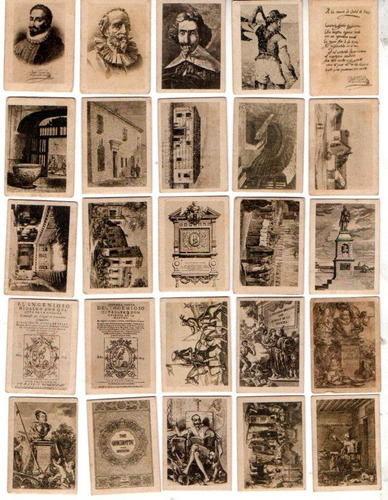 25 figuritas. thomas - barcelona. figuras de cervantes.
