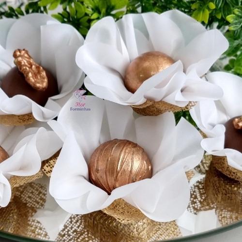 25 forminhas para doces em tecido e tela, flor forminhas,