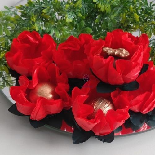 25 forminhas para doces finos flor gerbera
