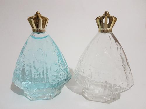 25 frascos vidro nossa senhora aparecida 100% transparente.
