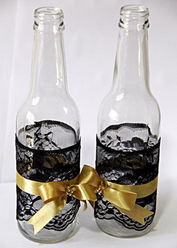 25 garrafas decoradas\casamento\bodas\15 anos