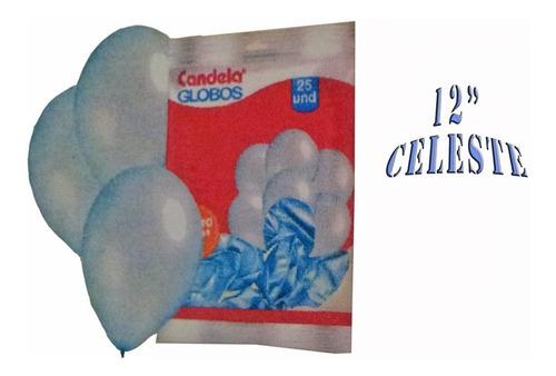 25 globos perlados 12 pulgadas celeste - hoy la golosineria
