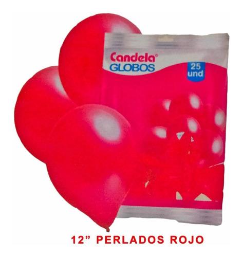 25 globos perlados 12pulgadas rojo hoy oferta la golosineria