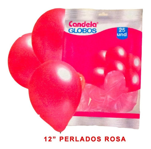 25 globos perlados 12pulgadas rosa hoy oferta la golosineria