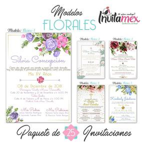 Arreglos Florales Para Boda O Xv Años Invitaciones Anos
