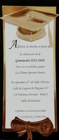 25 Invitaciones Graduacion Texto Incluido