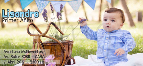 25 invitaciones tarjetas original cumpleaños infantil foto