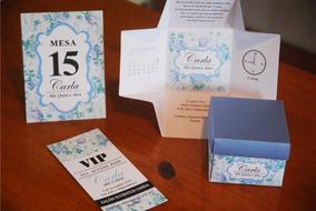 25 Invitaciones Tipo Caja 25 Tarjetas Vip