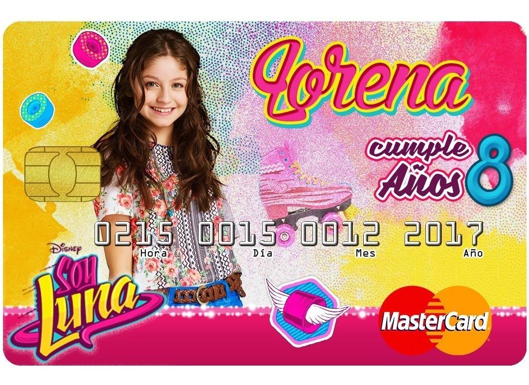 25 Invitaciones Tipo Tarjeta De Credito Soy Luna